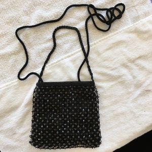 Handbags - Soft square beaded evening bag with 2 straps